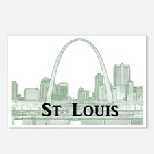 StLouis_Downtown_Rect_Bla Postcards (Package of 8)