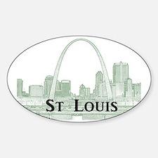 StLouis_Downtown_Rect_BlackGreen Sticker (Oval)