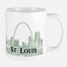 StLouis_Downtown_Rect_BlackGreen Mug
