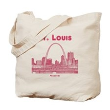 StLouis_10x10_Downtown_Red Tote Bag