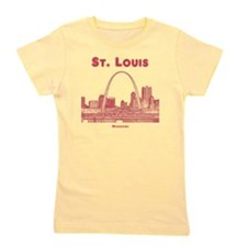 StLouis_10x10_Downtown_Red Girl's Tee