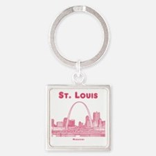 StLouis_10x10_Downtown_Red Square Keychain