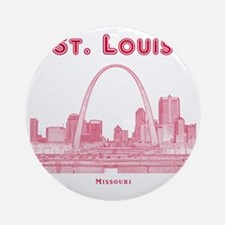 StLouis_10x10_Downtown_Red Round Ornament