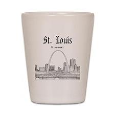 StLouis_12x12_Downtown_Black Shot Glass