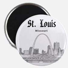 StLouis_12x12_Downtown_Black Magnet
