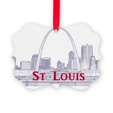 StLouis_Downtown_Rect_BlueRed Ornament
