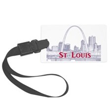 StLouis_Downtown_Rect_BlueRed Luggage Tag