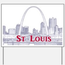 StLouis_Downtown_Rect_BlueRed Yard Sign