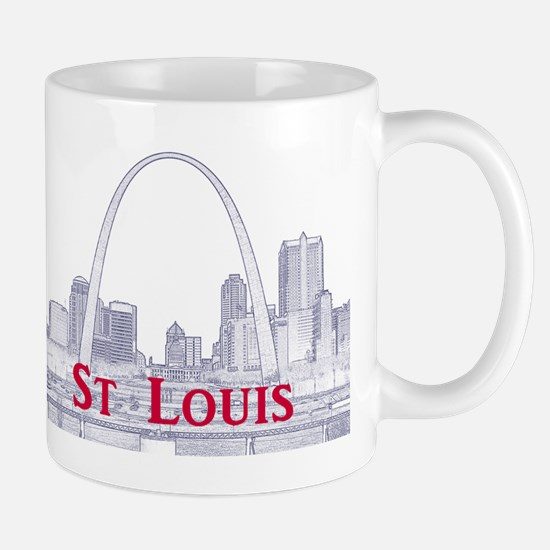 StLouis_Downtown_Rect_BlueRed Mug