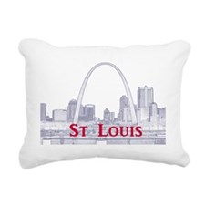 StLouis_Downtown_Rect_Bl Rectangular Canvas Pillow