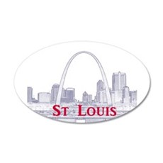 StLouis_Downtown_Rect_BlueRe Wall Decal
