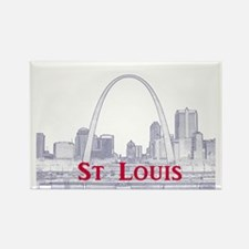 StLouis_Downtown_Rect_BlueRed Rectangle Magnet