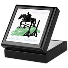 Fun Hunter/Jumper Equestrian Horse Keepsake Box