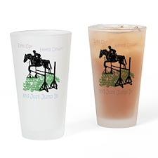 Fun Hunter/Jumper Equestrian Horse Drinking Glass