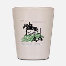 Fun Hunter/Jumper Equestrian Horse Shot Glass