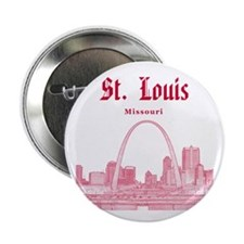 """StLouis_12x12_Downtown_Red 2.25"""" Button"""