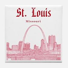 StLouis_12x12_Downtown_Red Tile Coaster