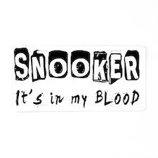 Snooker Designs Aluminum License Plate