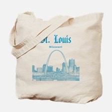 StLouis_12x12_Downtown_Blue Tote Bag