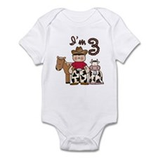 Cowboy 3rd Birthday Infant Bodysuit