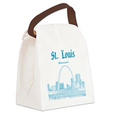StLouis_12x12_Downtown_Blue Canvas Lunch Bag