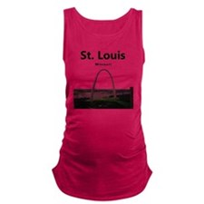 St Louis Gateway Arch Maternity Tank Top