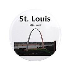 "St Louis Gateway Arch 3.5"" Button"