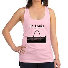 St Louis Gateway Arch Racerback Tank Top