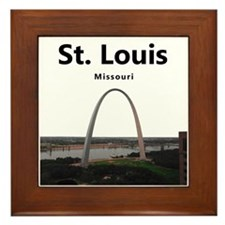 St Louis Gateway Arch Framed Tile