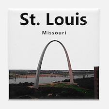 St Louis Gateway Arch Tile Coaster