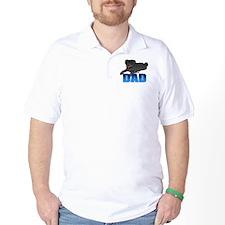 Black Pug Dad T-Shirt