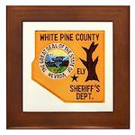 White Pine Sheriff Framed Tile