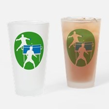 male table tennis players Drinking Glass
