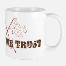 In rust we trust with chequered flag Mug