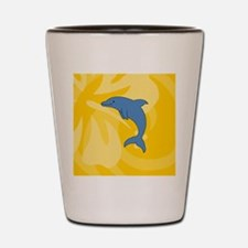 Dolphin Earring Circle Charm Shot Glass