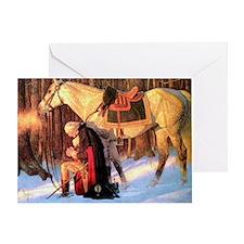 Mt. Vernon Painting of George Washin Greeting Card
