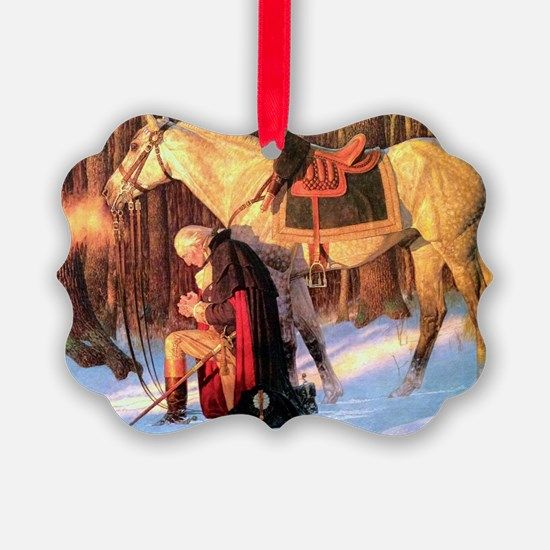 Mt. Vernon Painting of George Was Ornament
