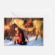 Mt. Vernon Painting of George Washin Greeting Card