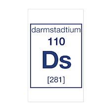 Darmstadtium Rectangle Decal