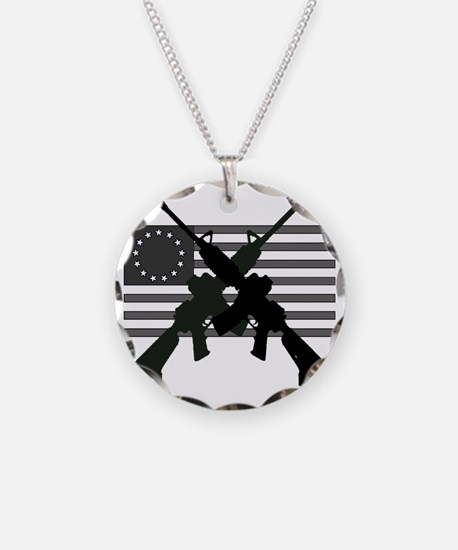 AR-15 and Revolutionary Flag Necklace