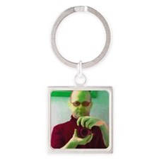 Roberto - Self Portrait Square Keychain