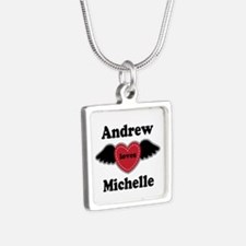 Personalized Wing Heart Couples Love Necklaces