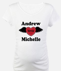 Personalized Wing Heart Couples Love Shirt