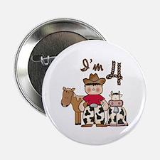 Cowboy 4th Birthday Button