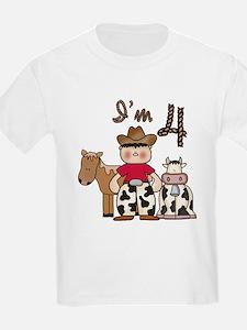 Cowboy 4th Birthday T-Shirt