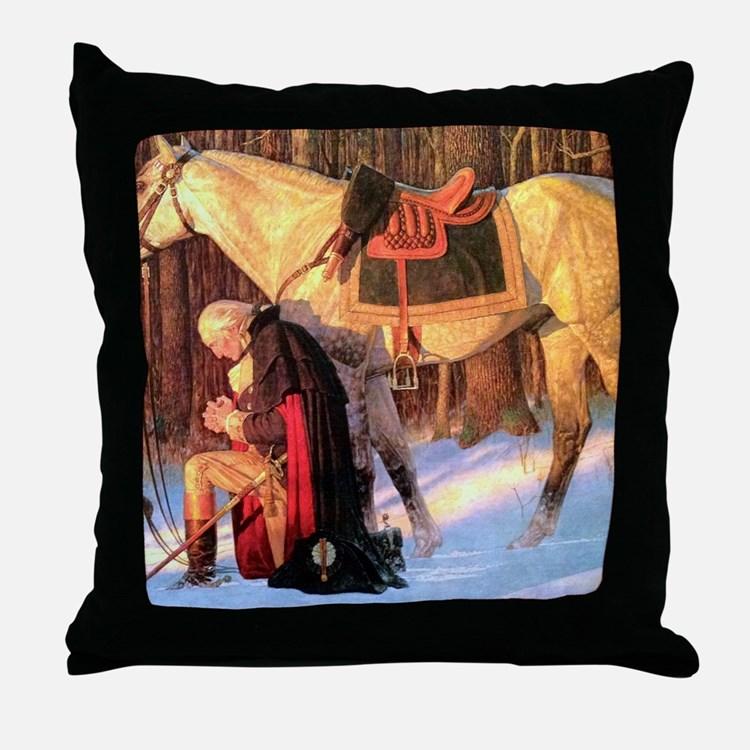 Mt. Vernon Painting of George Washing Throw Pillow