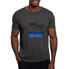 Black Pug Grandpa T-Shirt
