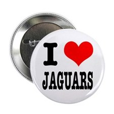 "I Heart (Love) Jaguars 2.25"" Button (10 pack)"