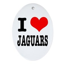 I Heart (Love) Jaguars Oval Ornament