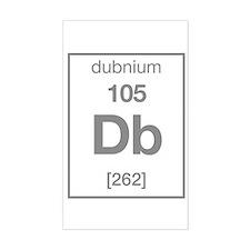 dubnium Rectangle Decal